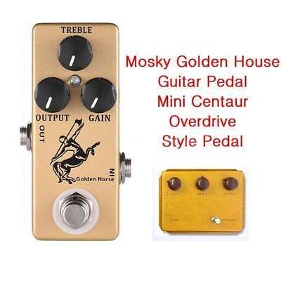 Mosky Audio Golden Horse Guitar Effect Pedal Overdrive Boost Mini Centaurs