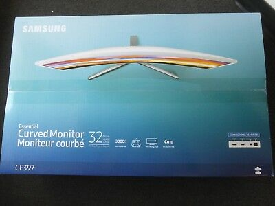 """New Samsung 32"""" Full HD Curved Screen LED TFT Monitor Glossy White MagicBright"""