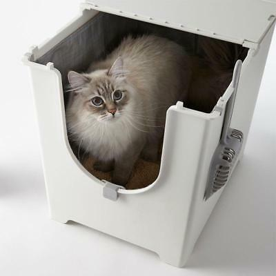 Modkat Flip Cat Litter Box Top Lid Tray Covered Hooded With Scoop Toilet Loo New