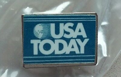 USA Today lapel pin pre-owned blue and white