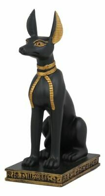 "Egyptian God Of Afterlife Sitting Anubis In Jackal Dog Form Statue 9.25""H Decor"