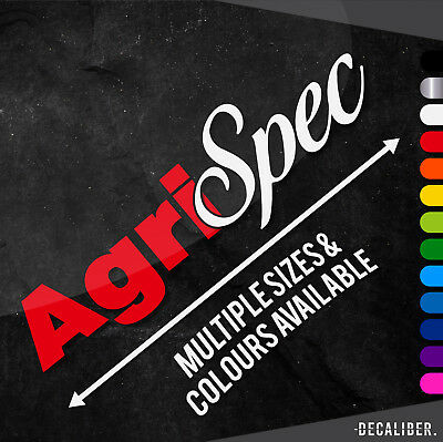 Long 2 Tone Agri Spec Sticker / Decal for Car / Tractor - Multiple Colours/Sizes