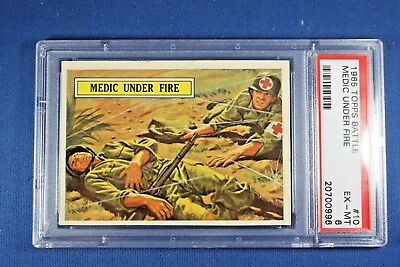 1965 Topps Battle Cards - #10 Medic Under Fire - PSA ExMt 6