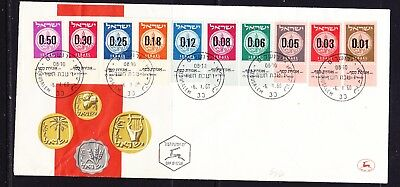 Israel 1960 -  New Currency First Day Cover with Tabs