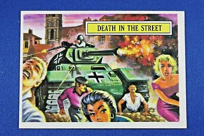 1965 Topps Battle Cards - #13 Death In The Street - NrMt-Mt