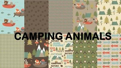 CAMPING ANIMALS SCRAPBOOK PAPER - 10 x A4 pages