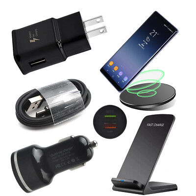 Fast Wireless Car Wall Charger Cable For Samsung Galaxy S9 S10 Plus Note 8 9 S8
