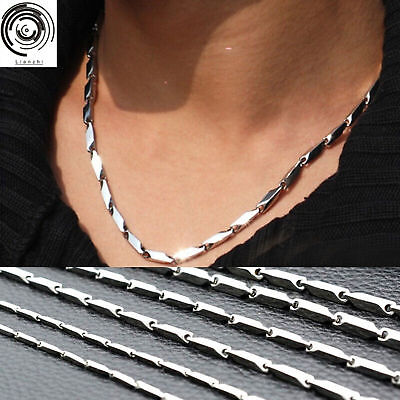 "Men Stainless Steel Silver Curb Cuban Link Chain Necklace 2mm Wide Long 22""-30"""