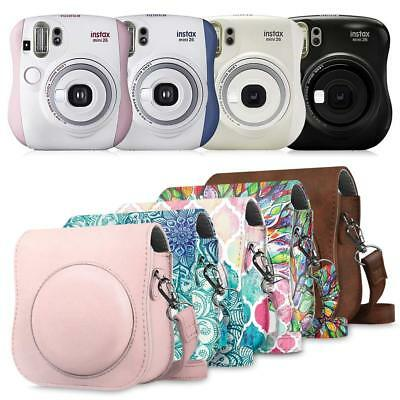 For Fujifilm Instax Mini 25 26 Instant Camera Bag Cover Case w/ Removable Strap