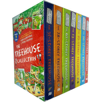 Andy Griffiths Collection Treehouse 7 Books Box Set(65,52,39,13,26,78,91 storey)