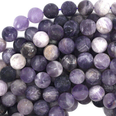 "Grade A Natural Amethyst Gemstone Round Beads 2mm 3mm 4mm 6mm 8mm 10mm 16"" Hot"