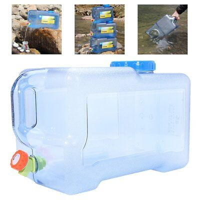 12/18/22L Portable Water Bucket Container Storage Outdoor Camping Hiking Travel
