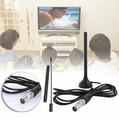 30dBi Indoor HD Digital DVB-T/FM Freeview TV Aerial Antenna Magnetic Base DTA180