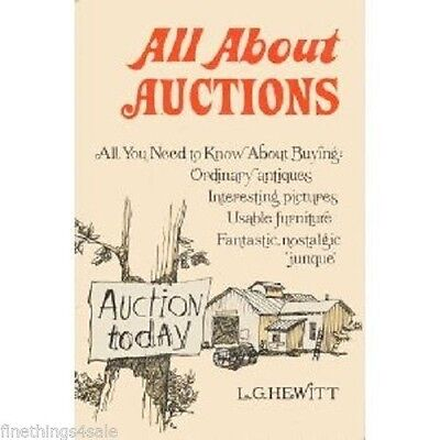 ALL ABOUT AUCTIONS (Hardcover) L.G. HEWITT - REFERENCE BOOK ANTIQUE COLLECTORS