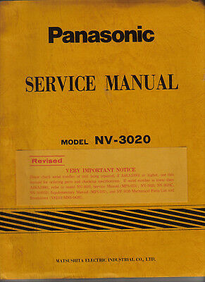 Panasonic Service Manual For Nv-3020