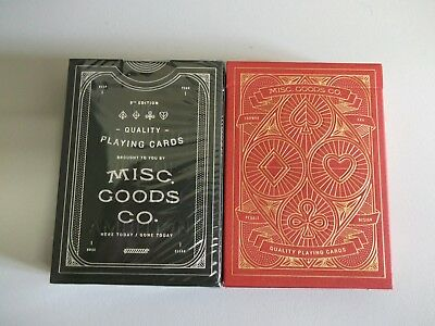 "SEALED PACK ""Bicycle Type - Misc.Goods Co (Black Edition)"" Pack of Playing Cards"