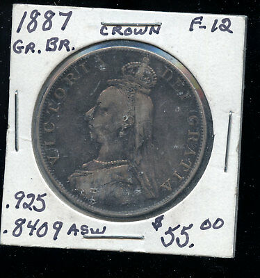 1887 Great Britain Crown F12  D2-92