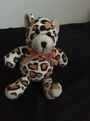 Reeses spotted small leopard stuffed animal bear w/ orange ribbon