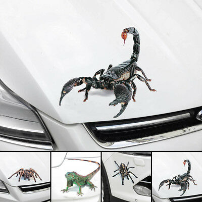 3D Scorpion Spider Sticker Vinyl Decal Car Sticker Window Wall Bumper Decor