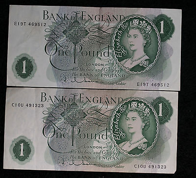 Two 1960 Bank of England One Pound Notes!!