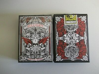 "SEALED PACK ""Bicycle Type - Hellsgate (Red/Black)"" Pack of Playing Cards"