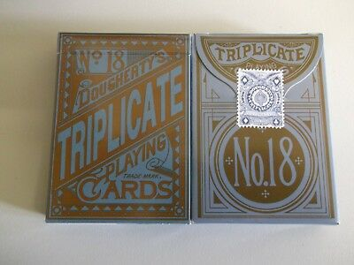 "SEALED PACK ""Bicycle Type - No 18 Triplicate (Doughertys)"" Pack of Playing Cards"