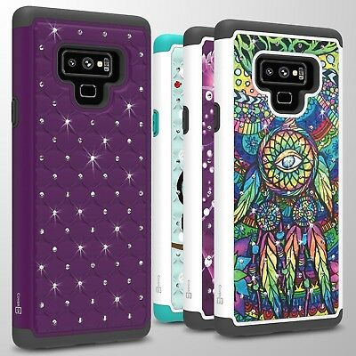 For Samsung Galaxy Note 9 Case Diamond Bling Hybrid Tough Shockproof Phone Cover