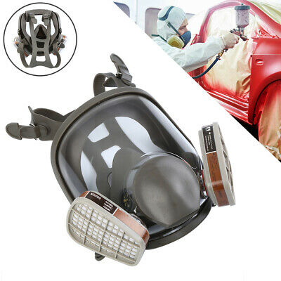 3M 6800 Full Face Facepiece Gas Mask Filter 15 in 1 Respirator Painting Spraying