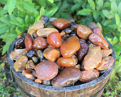 2 lb Bulk Lot Natural Rough Carnelian, Raw Stone Crystal Healing Tumbling BRAZIL