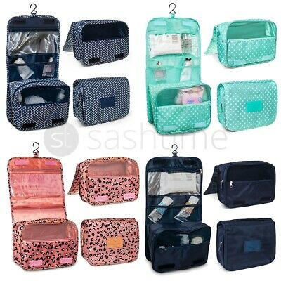 Toiletry Case Travel Cosmetic Makeup Wash Organiser Storage Pouch Hanging Bag