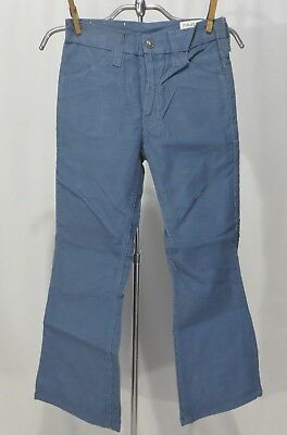 Vintage 70s Cords Pants Jeans Corduroy NWT dead stock sz 11 Boys Bell bottoms