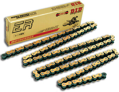 D.I.D. 428NZG-132 LINK 428 NZ Super Non O-Ring Series Chain 132 Links Gold