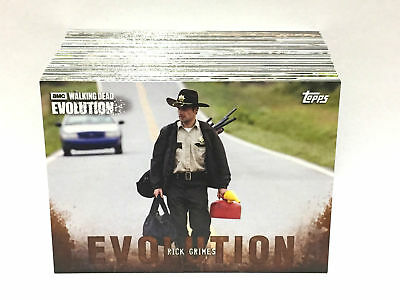 The Walking Dead Evolution BROWN PARALLEL BASE TRADING CARD SET (100 Cards)