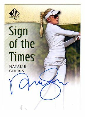 Natalie Gulbis  2014 Sp Authentic Sign Of The Times (Autograph)