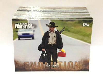 The Walking Dead Evolution (Topps 2017) BASE TRADING CARD SET (100 Cards)