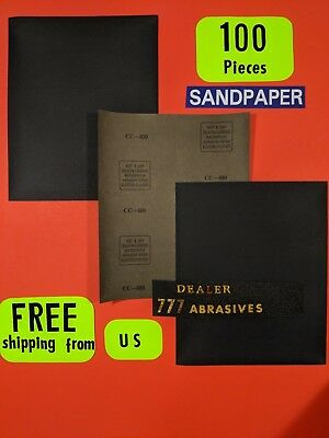 "100 - Wet-Dry-Sanding Sheets-400 Grit-Silicon-Carbide-9x11"" Waterproof Paper"