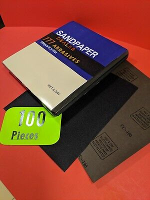 "100xWet-Dry-Sanding Sheets  180-Grit  Silicon-Carbide-9x11""  Waterproof  Paper"