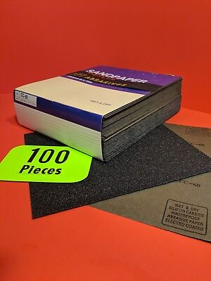 "100-Wet-Dry  Sanding Sheets   60 Grit  Silicon-Carbide-9x11""   Waterproof Paper"