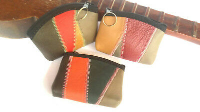 New Women Mini Coin Bag Genuine Cow Leather Change Small Purse Wallet Zipper