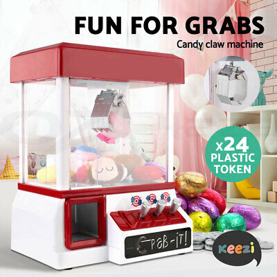 Keezi Kids Toy Game Claw Machine Candy Grabber Play Set Arcade Vending Toys