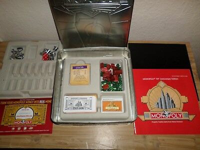 Monopoly 70th Anniversary Collectors Edition In A Tin From Parker Games 2005