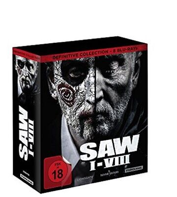 SAW I-VIII Definitive Collection Blu-ray NEU OVP Saw Box Teil 1-8 Komplett