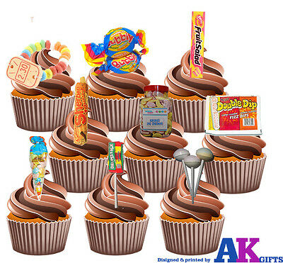 M and M sweets m/&ms edible Toppers Wafer or Icing cupcakex15 decoration
