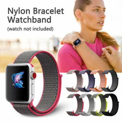 Sport Loop iWatch Band Woven Nylon Strap Bracelet For Apple Watch Series 3 2 1