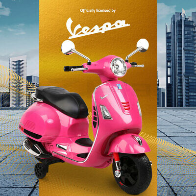 Kids Electric Ride On Motorcycle Motorbike VESPA Scooter Car Toy Battery Pink