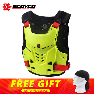 SCOYCO Vest 2018 Motorbike ATV Chest Back Protection Gear Motocross Armor Vest