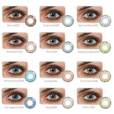14.5mm DIA Unisex Fashion Blue Green Honey Brown Gray Colour Contact Lens Magia