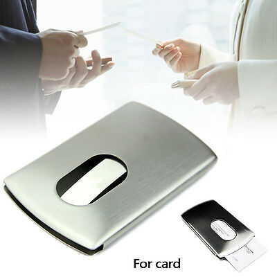 New 1x Wallet Business Stainless Steel Name Credit ID Card Holder Pocket Case MT