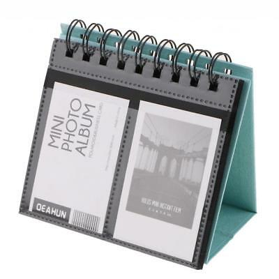 "Blue Calendar Photo Album 3-inch Desk Calendar Picture Holder 3"" 68 Pockets"