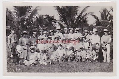 Malaya Bagan Lalang Second Crocodile Hunting Party Real Photo Postcard 1919 - 45